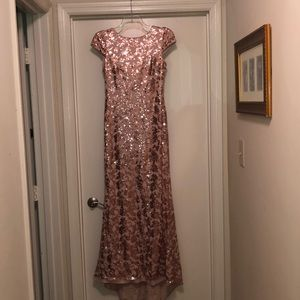 Calvin Klein Pink/Rose Gold Sequined Dress size 8